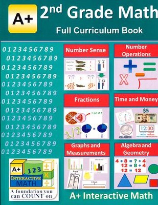 A+ Interactive Math Full Curriculum Textbook, Grade 2  -