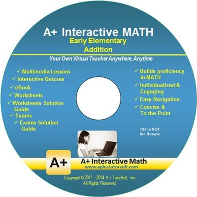 A+ Interactive Supplemental Math Early Elementary Addition on CD-ROM  -