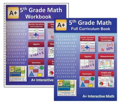 A+ Interactive Math Full Curriculum Textbook & Workbook Bundle, Grade 5  -