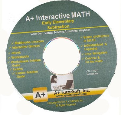 A+ Interactive Supplemental Math Early Elementary Subtraction on CD-ROM  -