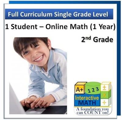 A+ Interactive Online Math Grade 2 Full Curriculum (1 Year)  -