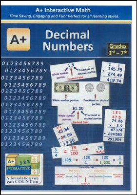 A+ Interactive Supplemental Math Decimal Numbers on CD-ROM  -