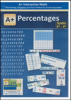 A+ Interactive Supplemental Math Percentages on CD-ROM  -