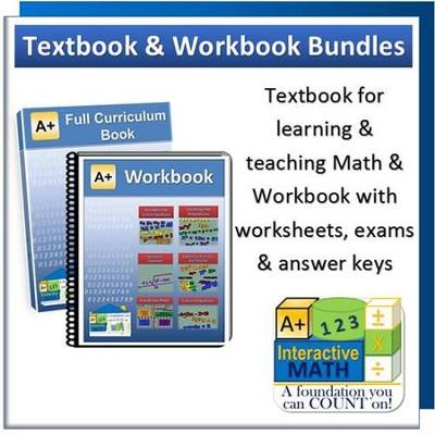 A interactive math full curriculum textbook workbook bundle a interactive math full curriculum textbook workbook bundle algebra fandeluxe Choice Image