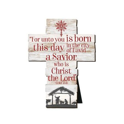 For Unto You Is Born This Day, A Savior, Cross, Small  -