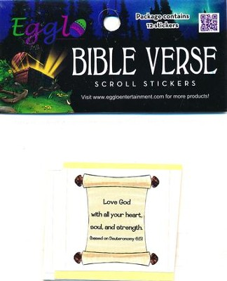 Sticker-Bible Verse Scrolls (Pk/12)  -     By: Darcie Cobos