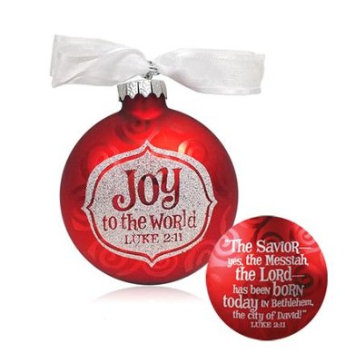 Joy to the World Glass Ornament  -