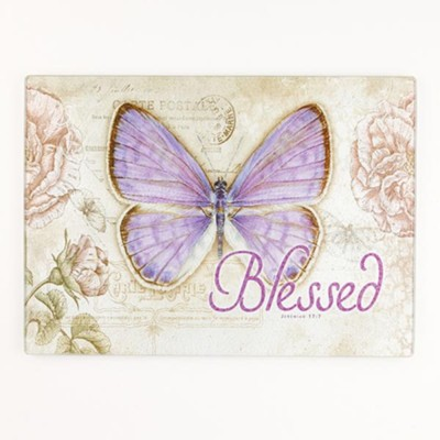 Blessed, Butterfly Cutting Board, Large  -