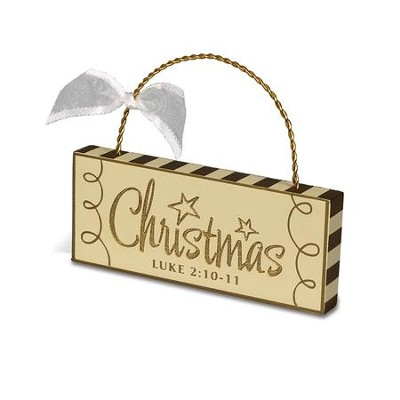Christmas Plaque Ornament  -