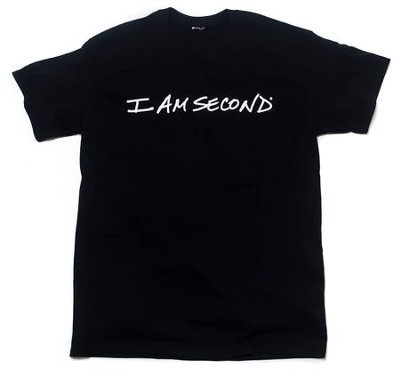 I am Second T-Shirt, Black, Medium  -