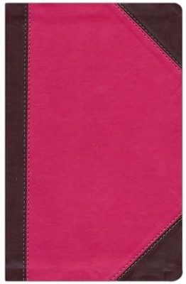 NKJV UltraSlim Reference Bible, LeatherSoft Raspberry/Plum  -     By: Thomas Nelson Publishers