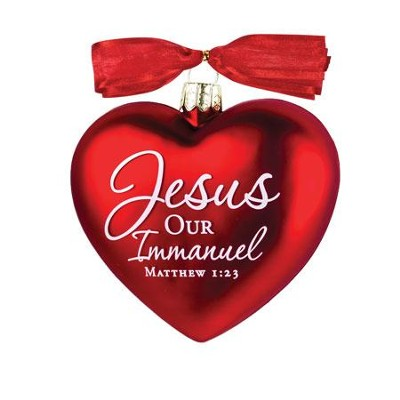 Jesus, Our Immanuel, Heart of Christmas Ornament  -