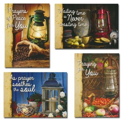 Lighting the Way (KJV) Box of 12 Assorted Praying for You Cards  -