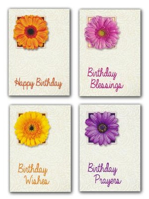 Birthday Blossoms (NIV) Box of 12 Assorted Birthday Cards  -