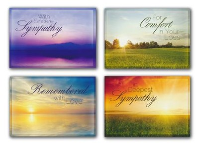 Beyond the Sunset (KJV) Box of 12 Assorted Sympathy Cards  -