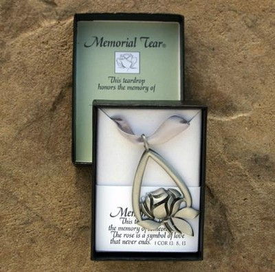Memorial Tear Pewter Ornament   -
