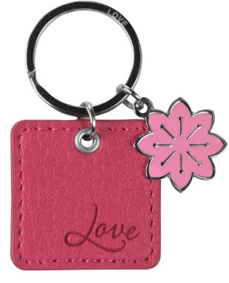 Love, LuxLeather Keyring, Pink  -