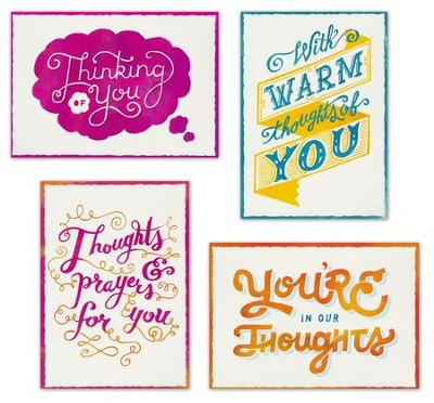 Thoughts of You (KJV) Box of 12 Assorted Thinking of You Cards  -