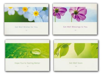 Sending You Smiles (NIV) Box of 12 Assorted Get Well Cards  -