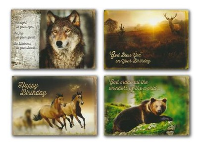Wild animals kjv box of 12 assorted birthday cards christianbook.com
