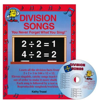 Audio Memory Division Songs Workbook & CD Set    -     By: Kathy Troxel