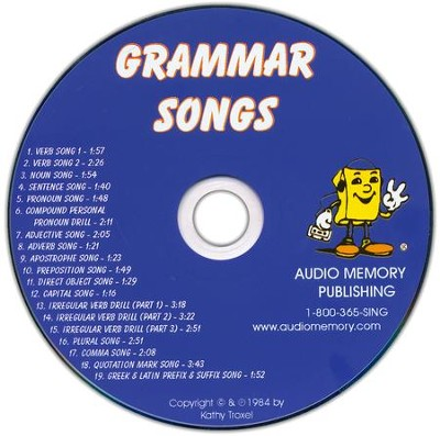 Audio Memory Grammar Songs CD Only   -     By: Kathy Troxel