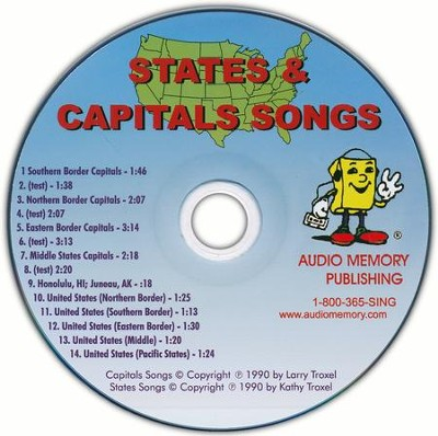 Audio Memory States & Capitals CD Only   -     By: Larry Troxel
