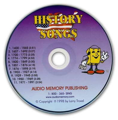 Audio Memory History Songs CD Only   -     By: Larry Troxel