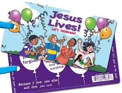 Jesus Lives! Let's Celebrate! 3D Bookmark   -