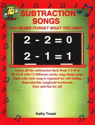 Audio Memory Subtraction Songs Book Only   -     By: Kathy Troxel