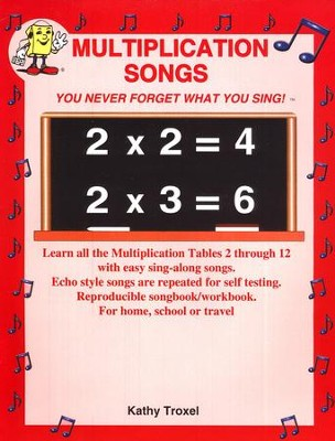 Audio Memory Multiplication Songs Book Only   -     By: Larry Troxel