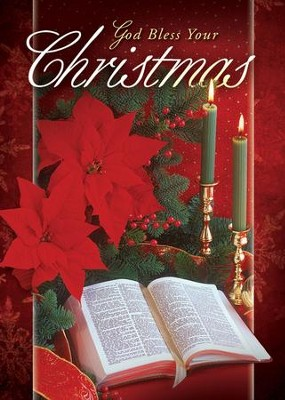 God Bless Your Christmas, Box of 12 Christmas Cards (KJV)  -