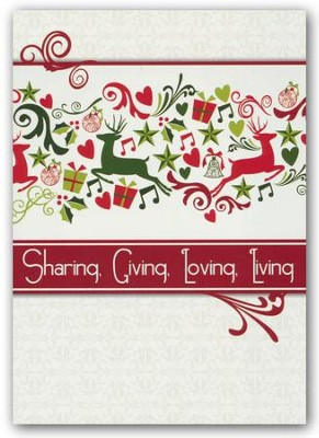 Sharing, Giving, Loving, Living, Box of 12 Christmas Cards (NIV)  -