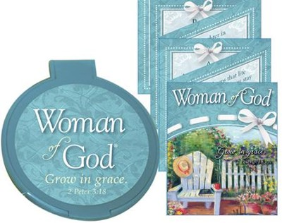 Woman of God Compact Mirror with Bilingual Book  -