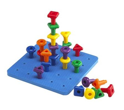 Stacking Shape Pegs & Pegboard  -