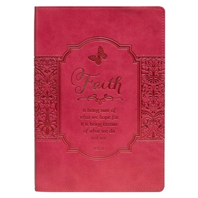 Faith Lux-Leather Journal, Pink  -