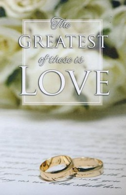 Gold Rings The Greatest of These is Love Bulletin, 100   -