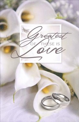 Silver Rings The Greatest of These is Love Bulletin, 100   -