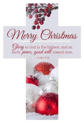 Merry Christmas - Glory to God Cross Design Bookmarks, 25  -