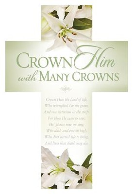 Crown Him With Many Crowns Cross Design Bookmarks, 25  -