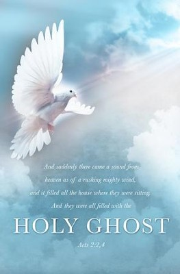 Holy Ghost (Acts 2:2,4, KJV) Pentecost Bulletins, 100  -
