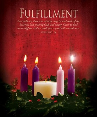 Fulfillment (Luke 2:13) Large Advent Bulletins, 100  -