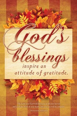 God's Blessings (Deuteronomy 16:15, NIV) Bulletins, 100  -