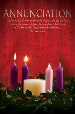 Annunciation (Matthew 2:6) Advent Bulletins, 100  -
