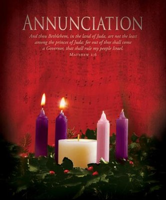 Annunciation (Matthew 2:6) Large Advent Bulletins, 100  -