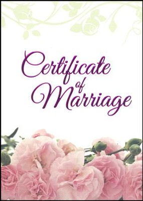 Pink Petals--Marriage (1 Corinthians 13:4-8, NIV) Foil Embossed Certificates, 6  -