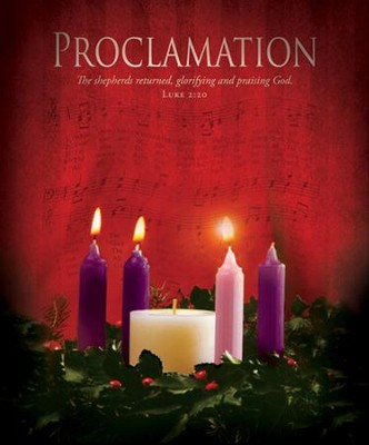 Proclamation (Luke 2:20) Large Advent Bulletins, 100  -