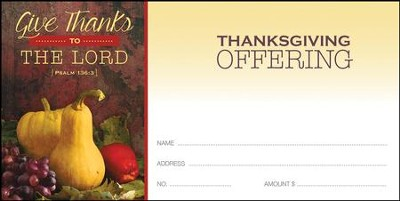 Fruitful Harvest (Psalm 136:3) Offering Envelopes, 100  -