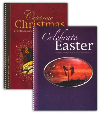 Easter and Christmas Plays for Church, 2 Volumes   -