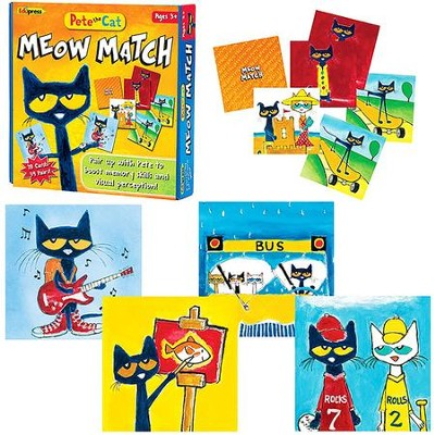 Pete the Cat Meow Match Game  -